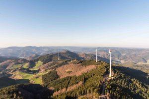 Aufnahme vom Windpark Prechtaler Schanze